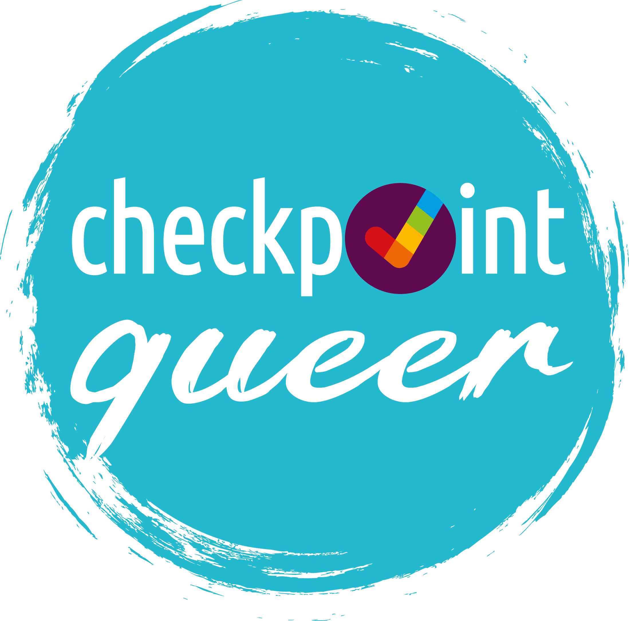Checkpoint Queer Logo Druck